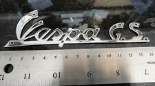 Vespa GS GS150 emblem badge logo chrome with pre-drilled holes V8090
