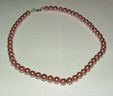 CENERE di Rose Rosa Vetro Collana Di Perle Argento PL 16 in (ca. 40.64 cm) Strand Estate PRL