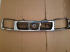 fits 1998-2000 NISSAN FRONTIER Pickup Front Bumper Chrome & Grey Grille NEW