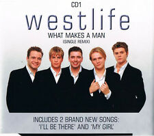WESTLIFE WHAT MAKES A MAN CD 1 MY GIRL I'LL BE THERE UK CD SINGLE FREE P&P