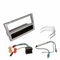 Vauxhall Silver Facia Fascia Fitting Kit Car CD Stereo Radio Quadlock Wiring
