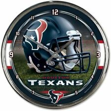 NFL Texans de Houston Horloge Murale Mur Horloge Chrome Montre Football