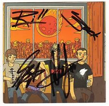 ALL TIME LOW Don't Panic Hand Signed By All 4 Ltd Ed CD Booklet +Punk Stickers!