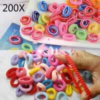 200Pcs Hair Ties Elastic Rubber Band Rope For Baby Girls Kids Ponytail Holder