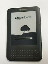 **LOCKED** Amazon Kindle KeyBoard 3rd Generation E-Reader 2010 D00901 4GB  #AC21