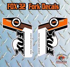 Fox 32 2014 FORK Stickers Decals Graphics Mountain Bike Down Hill MTB ORANGE