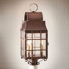 Colonial new WASHINGTON Antiqued Copper outdoor post lantern light