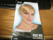 Amscan Pixie Blonde Synthetic Hair Wig Party Costume Cosplay Halloween Theater