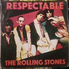 """RARE 45t 7"""" ROLLING STONES RESPECTABLE BELGIUM PRESS EMI 1978 BE+"""