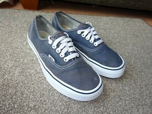 VANS OFF THE WALL Low Top Lace Up Navy Blue Trainers Size UK 6 EUR 39