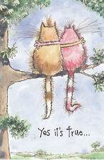 Yes It's True . I Like Hanging Out With You ~ Kats ~ Leanin' Tree