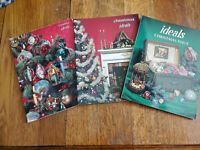 Three Vintage 1960's Christmas Ideals Paperback Books