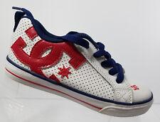 Court Graffix Boys DC Shoes Sneakers Skateboard Skate Shoe White Red Blue Sze 12