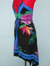 Miss Selfridge 70 S Style Art Déco Robe de soie Festival
