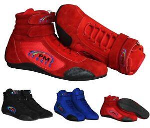 Karting Boots Racing Shoes Track Motorsport Boots Black Red Blue Adult & Kids
