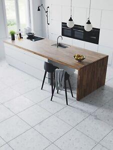 CUT-SAMPLE £18.89m2 Grey Terrazzo Matt Porcelain Tiles 60X60 Wall-Floor