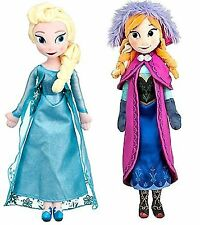 "Disney Store Frozen 20"" inches Elsa And Anna Plush Soft Doll - BRAND NEW"