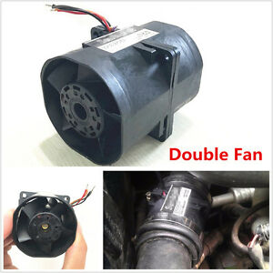 Car Auto Electric Turbine Turbo Double Fan Super Charger Boost Intake Fans 3.2A