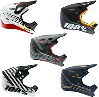 YOUTH 100% STATUS HELMET BIKE MTB BMX 100 PERCENT BLACK WHITE RED 100% FULL FACE