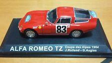 ALFA ROMEO TZ COUPÈ DES ALPES 1964 # 83 1/43 DE AGOSTINI RALLY COLLECTION