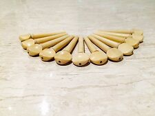 Boxwood Swiss Pegs with Ebony Eye Master 12 Piece Pack for Violin Viola Oud