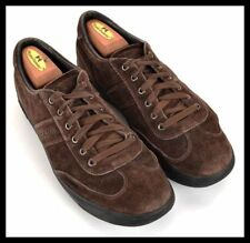 PRADA 4E1634 Solid Brown Suede Mens Shoes Fashion Sneakers - UK 7.5 / US 8.5