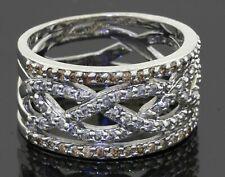 Bita heavy 14K WG 1.35CT diamond cluster 11.9mm wide woven style band ring