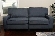 "DARK BLUE Sofa Couch Love Seat College Dorm Apartment Living Room Modern 61"""