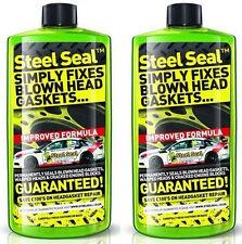 STEEL SEAL 500ml SIMPLY FIXES BLOWN HEAD GASKETS x2 bottles