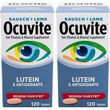 [2-Pack] Bausch + Lomb Ocuvite Vitamin & Mineral (120 Tablets X2) with Lutein