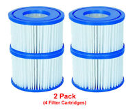 Bestway 4 Filter Cartridges VI 58323, Lay-Z-Spa Miami Monaco Vegas Palm Springs