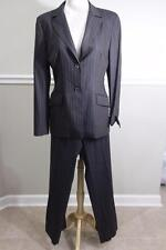 PIAZZA SEMPIONE Women's Brown Purple Pinstriped Pants Suit Size 12
