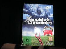 nintendo wii -  xenoblade chronicles - 100% complete big box w/ controller