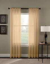 "Lovely Solid One Panel Sheer Curtain Window Drape 54"" x 84"" Long Rod Pocket"