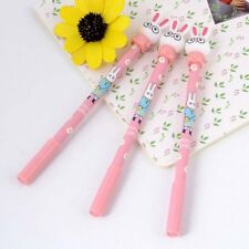 3Pcs Cute 0.5mm Rabbit Gel Pen Kawaii Bunny Black Ink Maker Cartoon Stationery