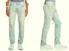 $128 Mens LEVIS 511 SLIM 'Ringo'Jeans 40 x 32 PREMIUM VINTAGE distress paint