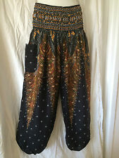 Ladies Boho HAREM Pants Summer Plus Size 16 18 20 Also Maternity Ps-blk