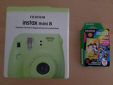 Fujifilm Instax Mini 8 Instant Camera Margarita Green With 10 Rainbow Film*VHTF*