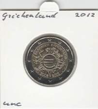 Griekenland 2 euro 2012 UNC : 10 Jaar Euro munt