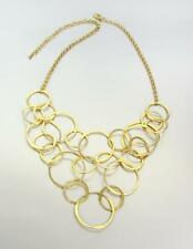 NEW! GORGEOUS Lightweight Minimalist Gold Circle Rings Necklace Earrings Set