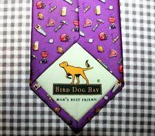 NWT BIRD DOG BAY Dress Tie 100% Silk Purple