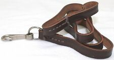 German Makarov Brown Leather Lanyard 31in L x 3/8 W saddle stitched each E7400
