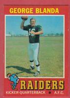 1971 Topps Football # 39 George Blanda - Raiders - Box 734-324