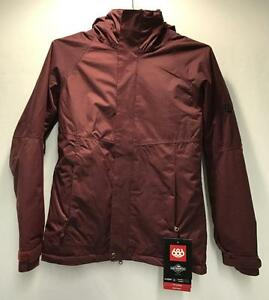686 Smarty Catwalk Women's Winter Snowboard Jacket Wine Pincord Size Large NEW
