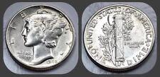 1945-P Mercury Dime - BU Brilliant Uncirculated UNC - US 90% Silver Coin