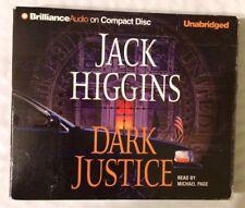 Jack Higgins Dark Justice CD AUDIOBOOK AUDIO BOOK Unabridged