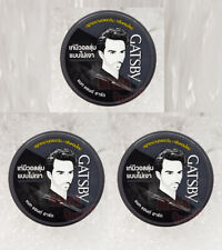 3 X 75 G. GATSBY HAIR STYLING WAX MAT and HARD FROM JAPAN FOR MEN