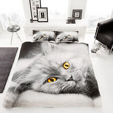 3D Cat Printed Luxury Duvet Covers Quilt Cover Reversible Bedding Set - DOUBLE