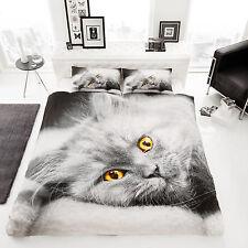 3D Cat Printed Luxury Duvet Covers Quilt Cover Reversible Bedding Set - DOUBLE
