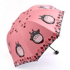 Anti UV Sun Rain Umbrella Totoro Manual Open Parasol Windproof Folding #JP